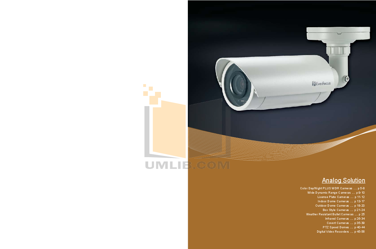 pdf for EverFocus Security Camera EM-500NHP4 manual
